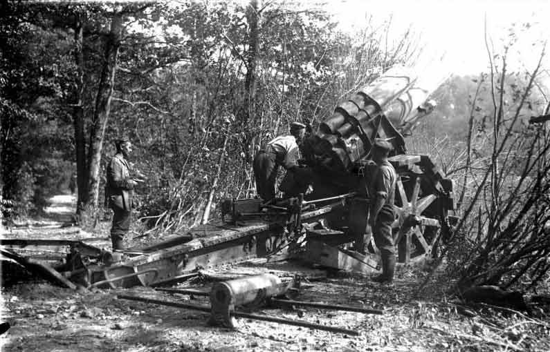 Artillerie allemande en Argonne