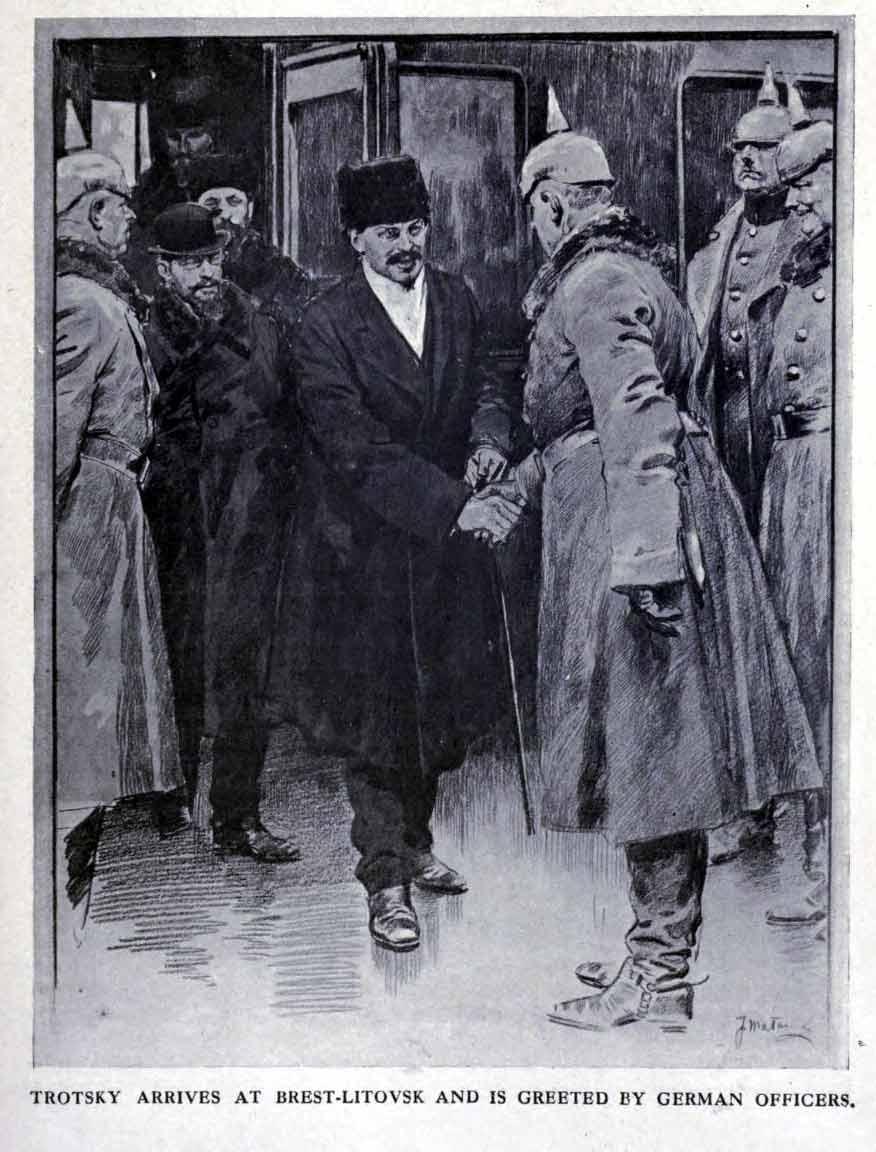 Arrivée de Trotsky