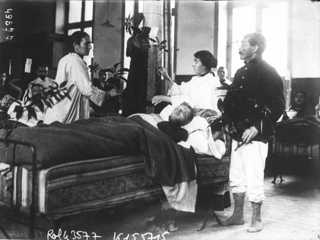 Hôpital de Calais en 1914