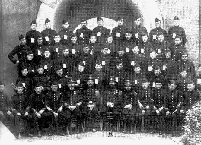 Garnison du fort en 1914