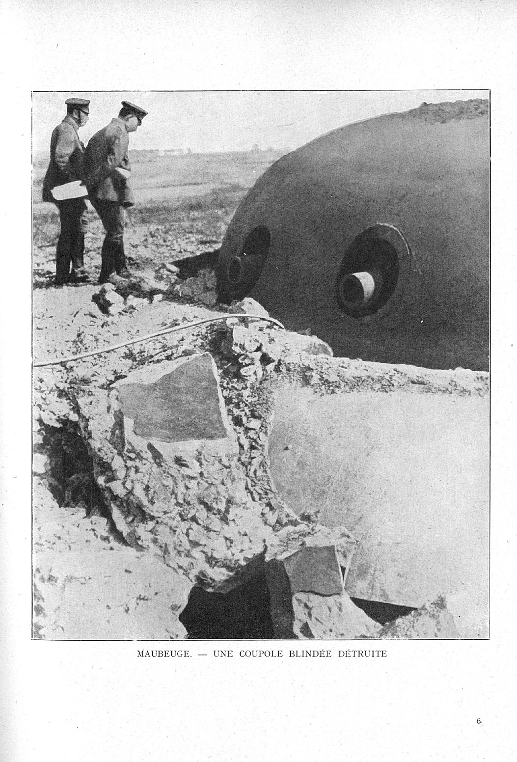 Fort de Maubeuge détruit