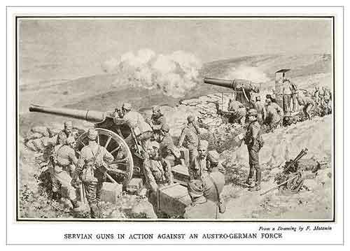 Artillerie serbe