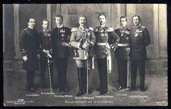 Guillaume II et ses fils